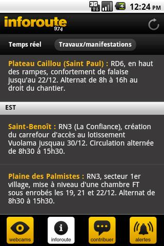 Inforoute 974 - screenshot
