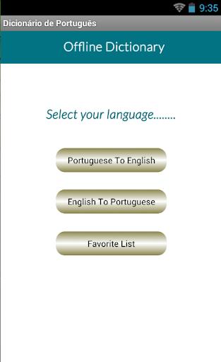 Portuguese Eng Dic
