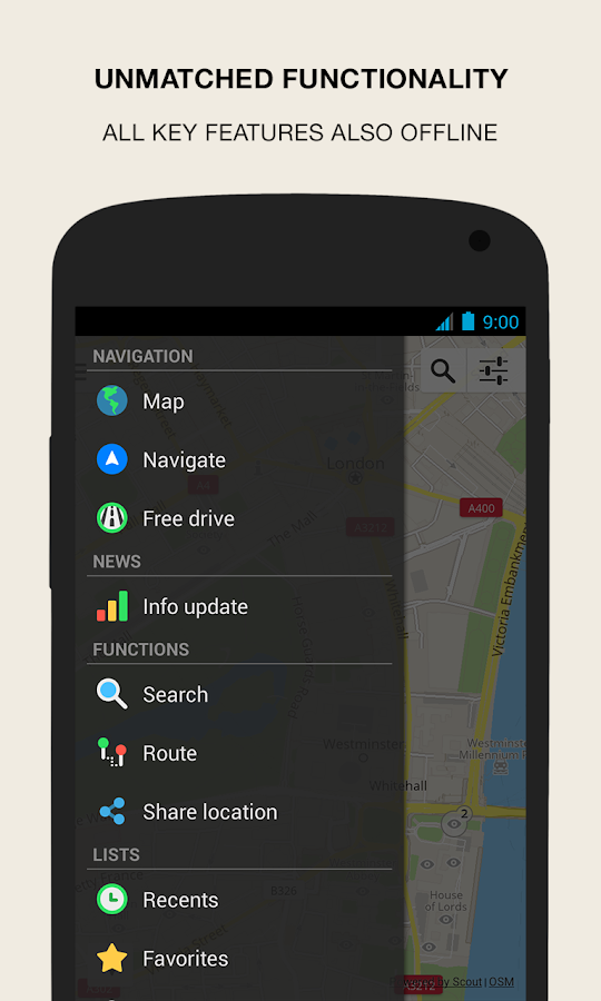 GPS Navigation & Maps - Scout - screenshot