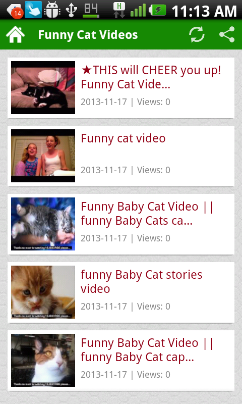 Funny Cat Videos - screenshot