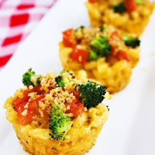 Roasted Vegetable Macaroni & Cheese Cups.