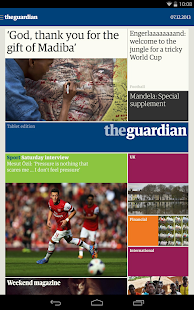 The Guardian tablet edition - screenshot thumbnail