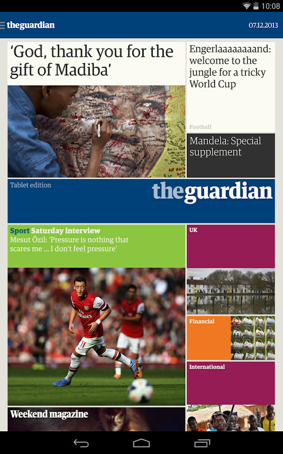 The Guardian tablet edition - screenshot