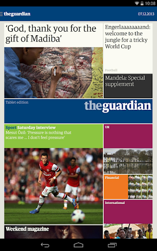 The Guardian daily edition screenshot for Android