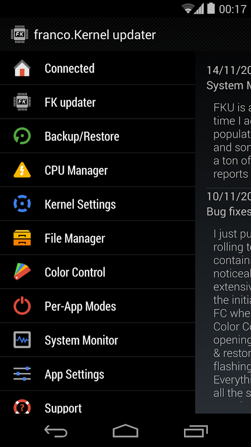 franco.Kernel updater - screenshot