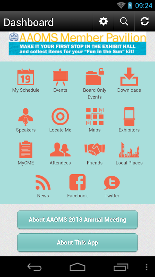 AAOMS 2013 Annual Meeting- screenshot