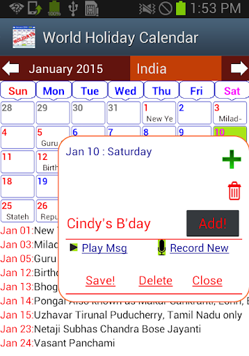 Calendar Apps For Laptop : Download holiday calendar free for pc