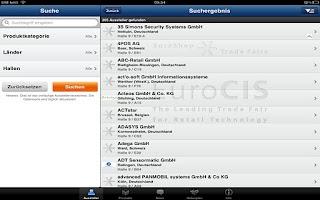 Screenshot of EuroCIS App