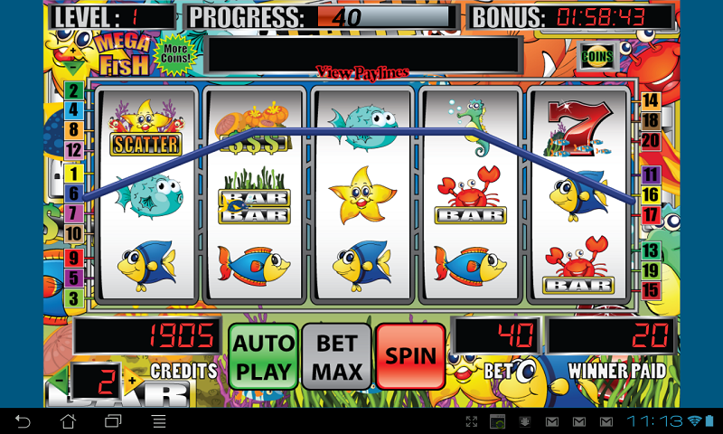 Mega fish slot machine android apps on google play for Fish slot machine