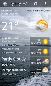 Weather forecast screenshot 0