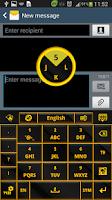 Screenshot of Gold Glow Black Keyboard Theme