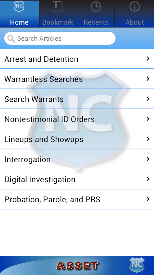 ASSET: Arrest-Search-Seizure- screenshot
