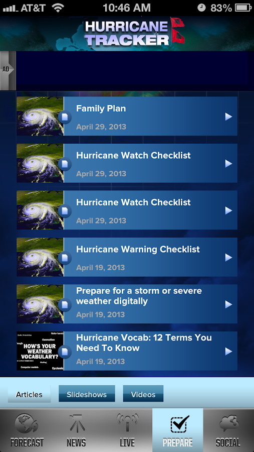 Hurricane Tracker - screenshot