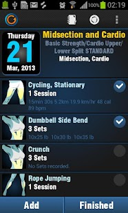 Gymprovise Gym Workout Tracker- screenshot thumbnail