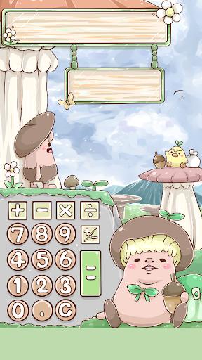 きのこん電卓(女性向け 可愛い)