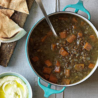 Lentil Soup with Pita & Whipped Feta