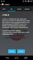 Screenshot of J104.5
