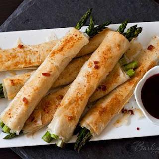 Phyllo, Parmesan, Bacon Asparagus Bundles