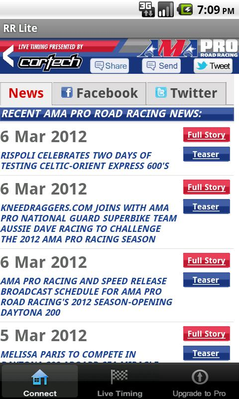 AMA Pro Road Racing Lite - screenshot