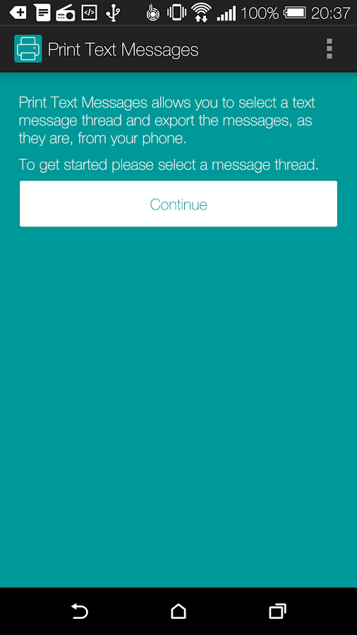 Print Text Messages - screenshot
