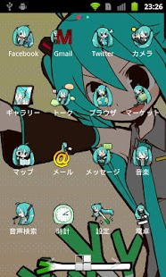 ADW Theme -Miku Hatsune- - screenshot thumbnail