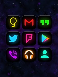 Neon Glow - Icon Pack v3.1