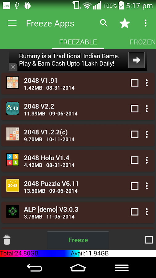 App2sd card-appmgr3- screenshot