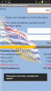 Tips & Taxes British Columbia- screenshot thumbnail