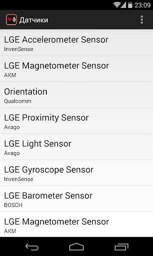 Sensors List