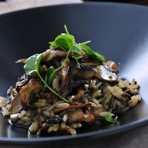 Shiitake and Portobello Mushroom Wild Rice