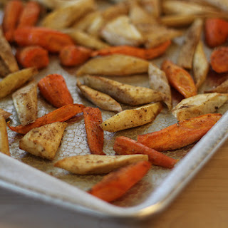 Roasted Parsnips and Carrots with Hazelnuts