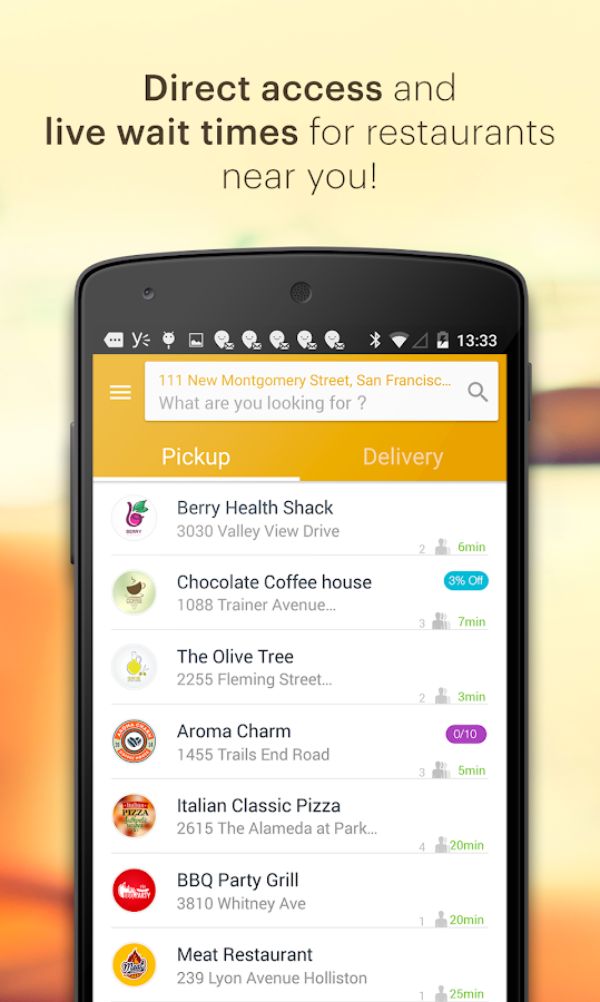 Tapingo- screenshot