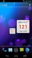 Screenshot of Ubuntu Countdown Widget