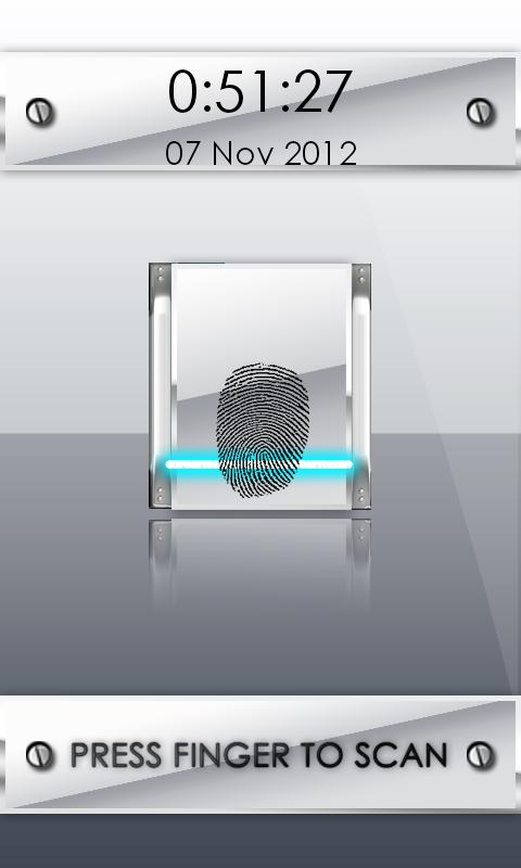 White FingerPrint Security - screenshot