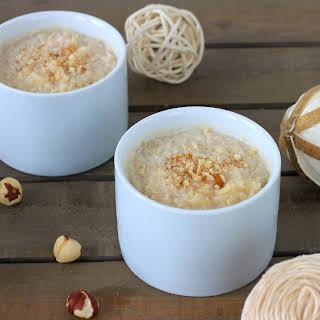 Vanilla and Chai rice pudding.