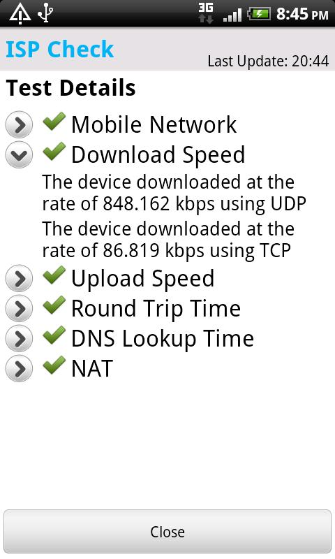 ISP Check- screenshot