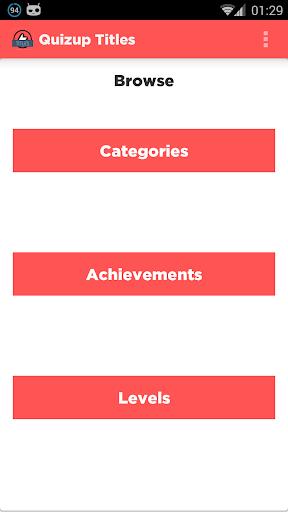 Quizup Titles: Free Version