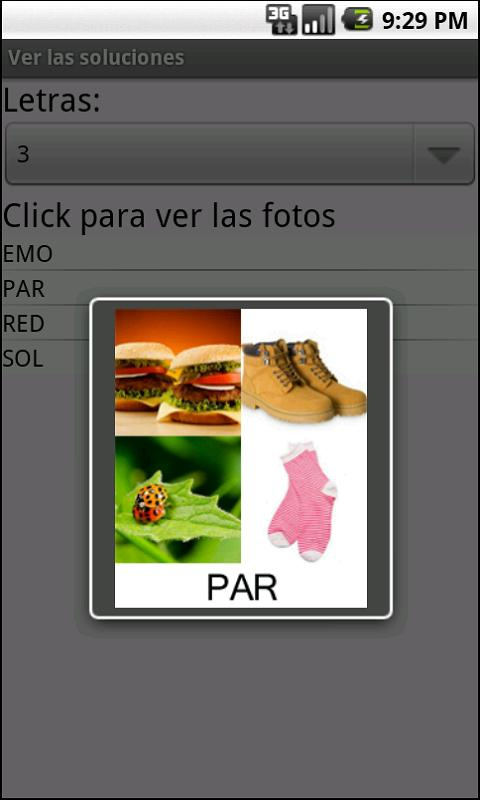 4 fotos 1 palabra SOLUCIONES - screenshot