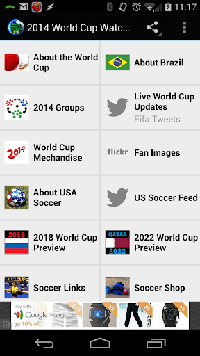 2014 World Cup Watcher