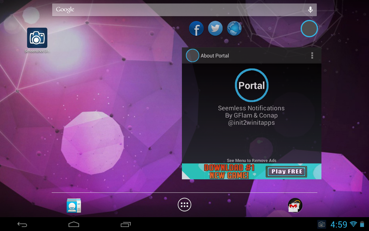 Portal (Floating Apps) [BETA] - screenshot