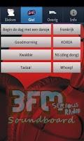 Screenshot of 3FM Soundboard App
