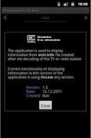 Screenshot of Dreambox Ecm Info