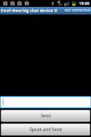 Screenshot of Deaf - Hearing chat device D