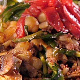 Chorizo, Spinach and Chickpea Saute Recipe