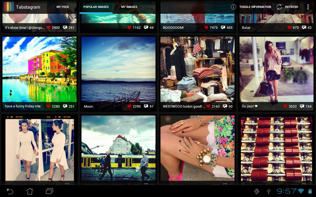 Tabstagram - screenshot