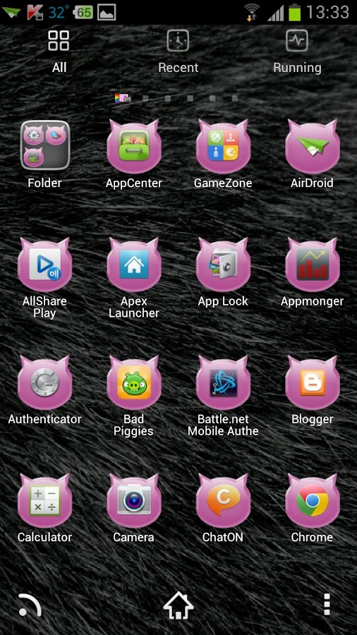 Pink Cats Theme - screenshot