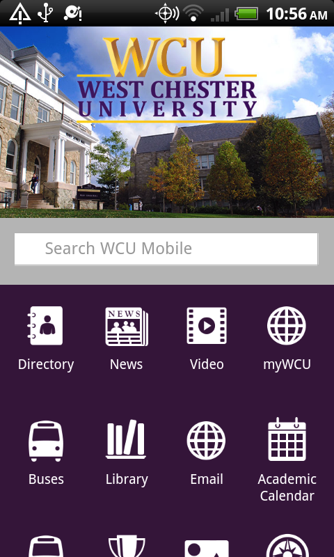 WCU Mobile- screenshot