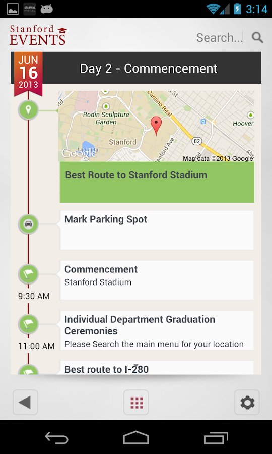 Stanford Events - screenshot