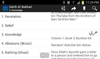 Screenshot of Sahih AlBukhari English Arabic