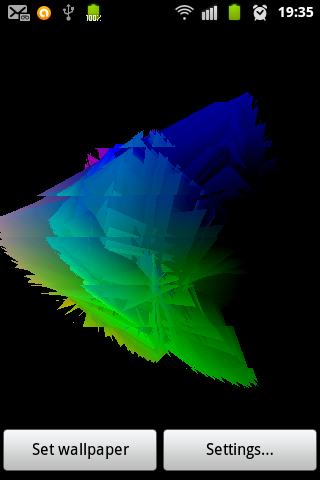 Flakes3D STS Live Wallpaper